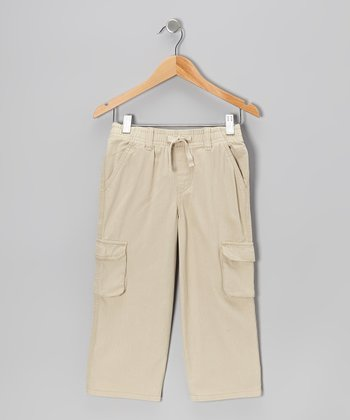 Khaki Twill Cargo Pants - Toddler & Boys