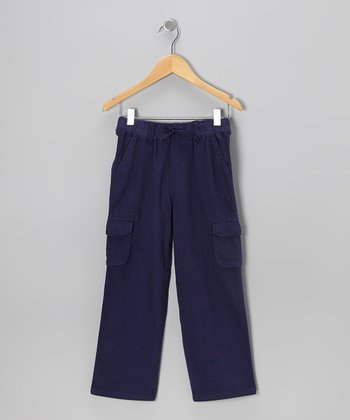 Navy Twill Cargo Pants - Toddler & Boys