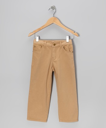 Camel Twill Pants - Toddler & Boys
