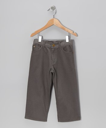 Charcoal Twill Pants - Toddler & Boys