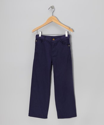 Navy Twill Pants - Toddler & Boys