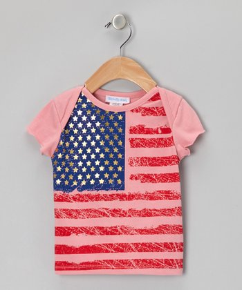 Pink American Flag Tee - Infant, Toddler & Girls
