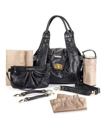 Black Annette Diaper Bag