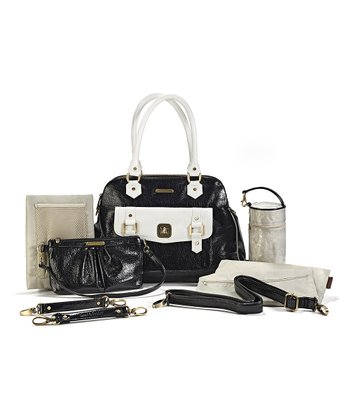 Black & White Sophia Diaper Bag