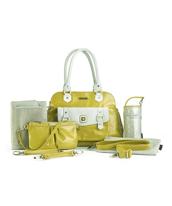 Yellow & White Sophia Diaper Bag