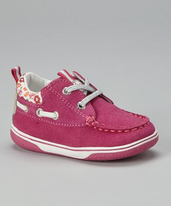 Fuscia & White Jr. Flick Sneaker
