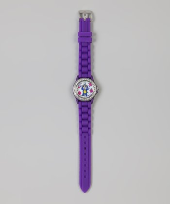Purple Polka Dot Monkey Watch
