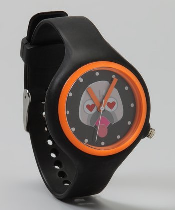 Black & Orange Bulldog Watch