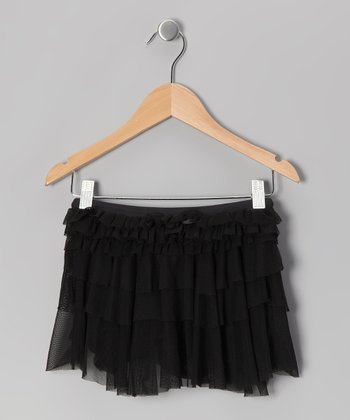 Black Ruffle Skirt - Girls