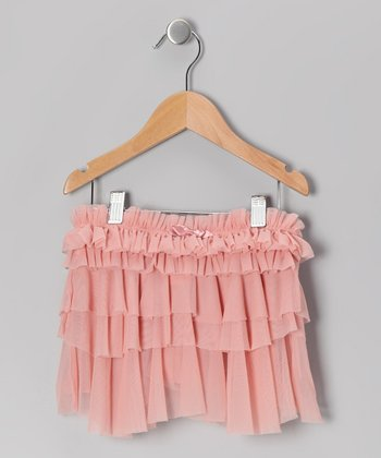 Romantic Pink Ruffle Skirt - Girls