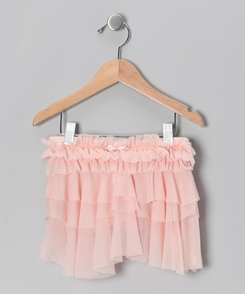 Whimsical Pink Ruffle Skirt - Girls