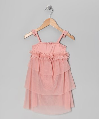 Romantic Pink Ruffle Skirted Leotard - Girls