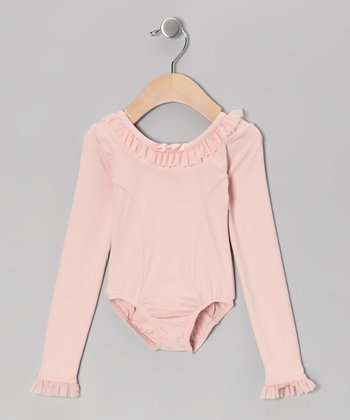 Whimsical Pink Ruffle Leotard - Girls