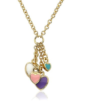 Pastel & Gold Cluster Heart Necklace