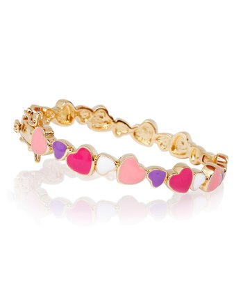 Purple & Gold Heart Bangle