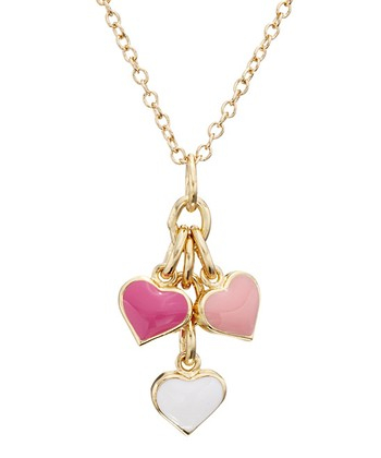 Pink & Gold Heart Cluster Necklace