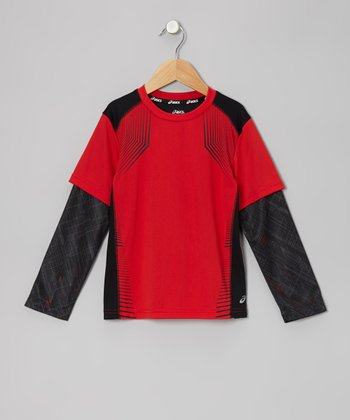 True Red Motion Layered Top - Boys