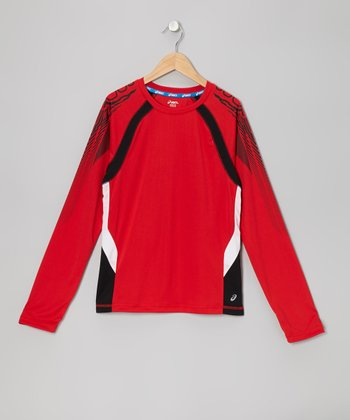 True Red Long-Sleeve Track Top - Boys