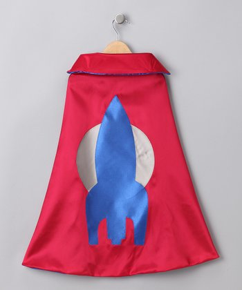 Red & Blue Radical Rocketeer Cape