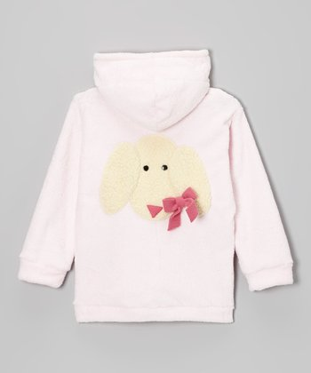 Baby Pink Lamb Zip-Up Hoodie - Infant & Toddler