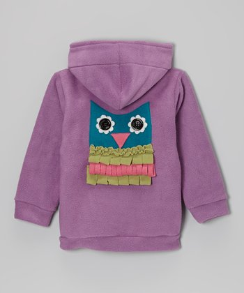Orchid Owl Fleece Zip-Up Hoodie - Infant
