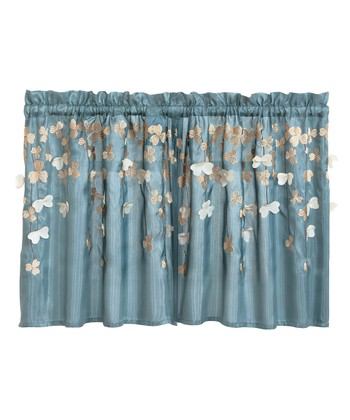 Blue Flower Drops Kitchen Tier - Set of Two