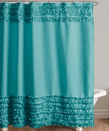 Turquoise Skye Shower Curtain