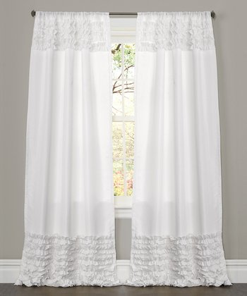 White Skye Curtain Panel