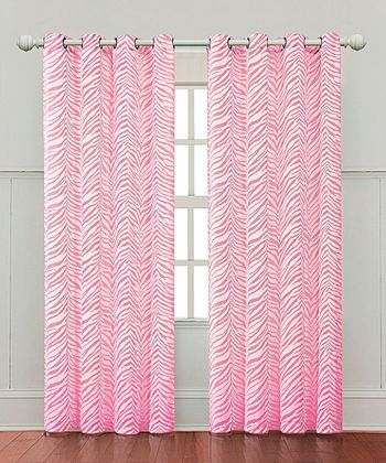 Hot Pink Ombre Zebra Curtain Panel