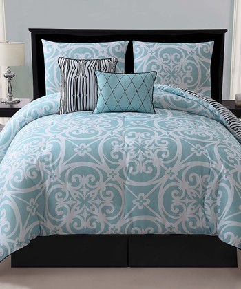 Blue Kennedy Reversible Comforter Set
