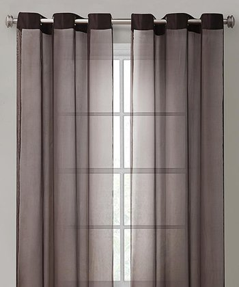 Chocolate Carlson Curtain Panel
