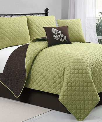 Green Preston Quilt Set