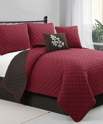 Red & Brown Preston Quilt Set