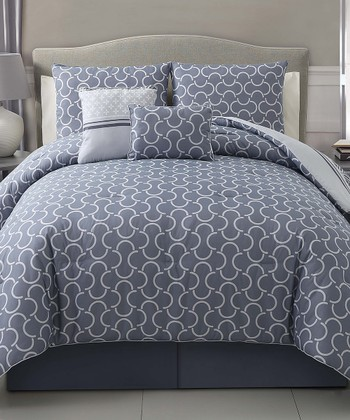 Gray Hawthorne Reversible Comforter Set