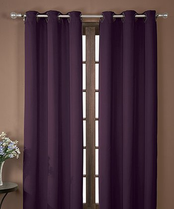 Wine Neil Blackout Curtain Panel