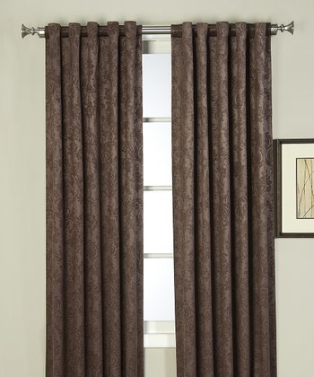 Chocolate Cambridge Curtain Panel