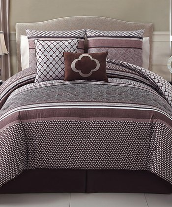 Brown Saria Comforter Set