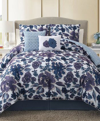 Blue Starling Comforter Set