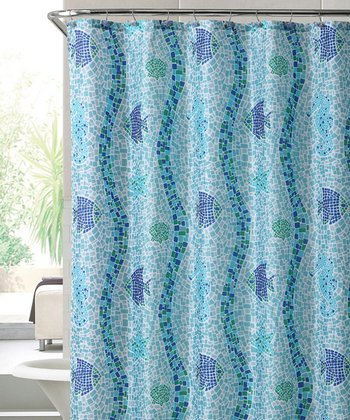 Blue Catalina Shower Curtain