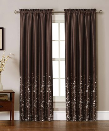 Brown Felice Curtain Panel