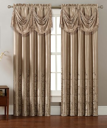 Gold Felice Curtain Panel
