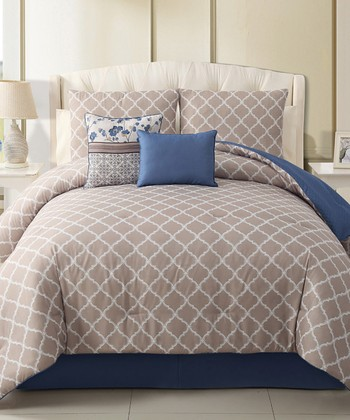 Blue Delancy Comforter Set