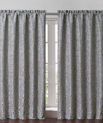 Aqua Catherine Curtain Panel