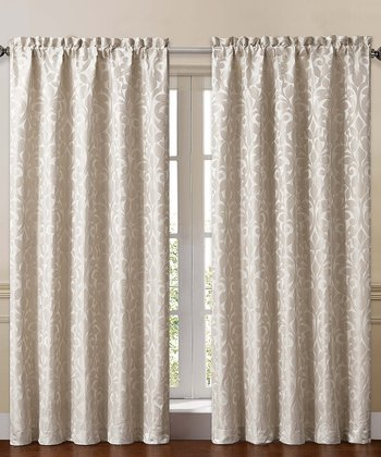 Beige Catherine Curtain Panel