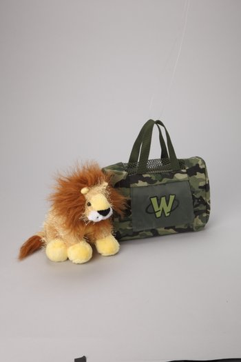 Lion Plush Toy & Carrier