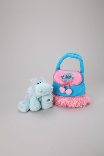 Hippo Plush Toy & Carrier