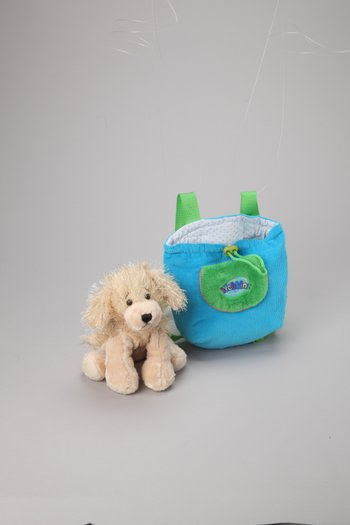 Golden Retriever Plush Toy & Carrier