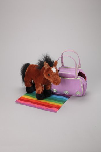Brown Arabian Plush Toy & Carrier