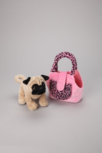 Pug Plush Toy & Carrier