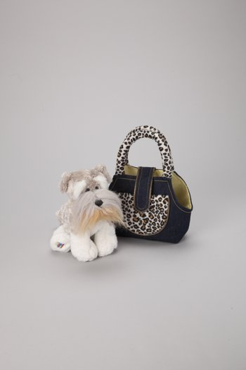 Schnauzer Plush Toy & Carrier